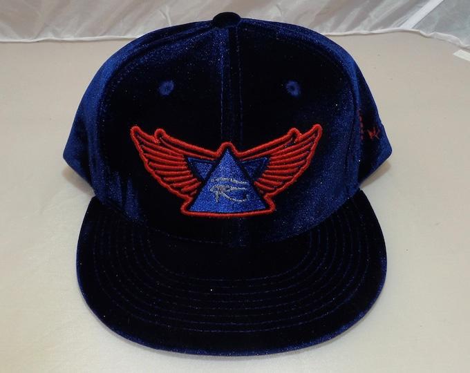 Snapback Flat-Brim Hat - 3D Wings of Horus (One-of-a-kind)