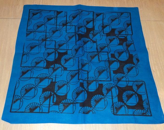 Bandanna - Cats Under the Stars (Black on Blue)