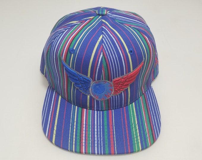 Snapback Flat-Brim Hat - Flying Eyeball (One-of-a-kind)