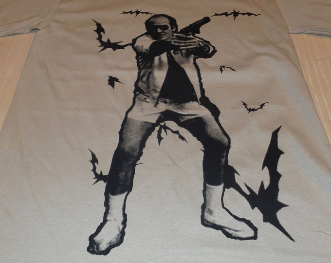 T-Shirt - Bat Country (Black on Sand)