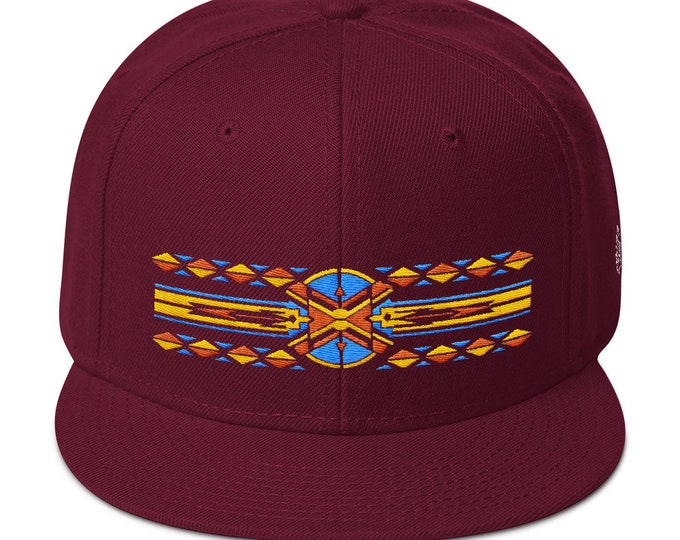 Snapback Flat-Brim Hat - Native