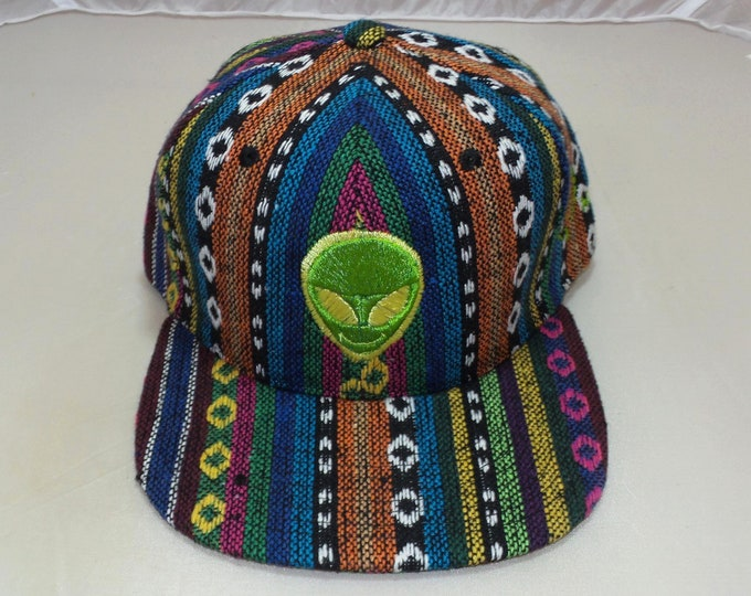 Snapback Flat-Brim Hat - Extraterrestrial (One-of-a-kind)