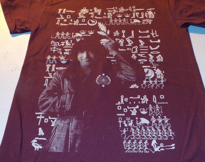 T-Shirt - Jerry Hieroglyphs (White on Maroon)