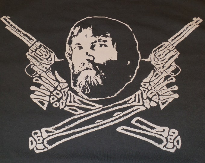 T-Shirt - Brent Mydland Guns (White on Gray)