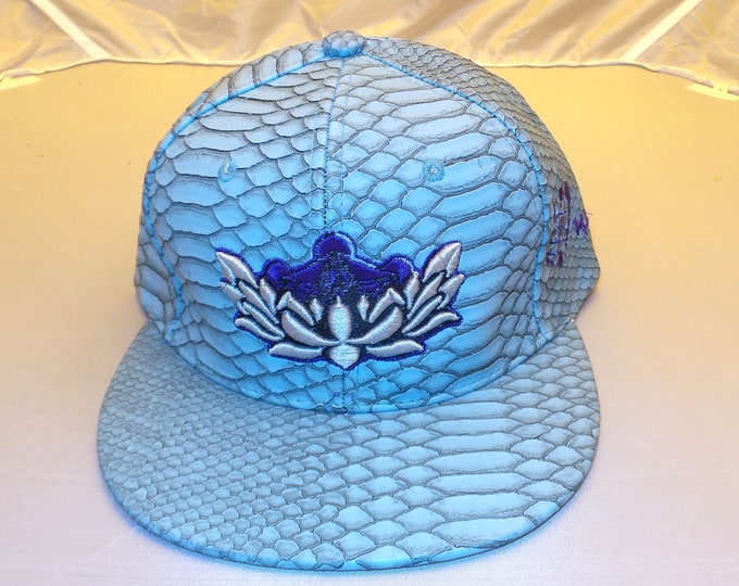 Buckle-back Flat-Brim Hat - Metatron's Lotus (One-of-a-kind)