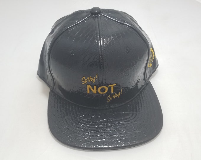 Snapback Flat-Brim Hat - Sorry! NOT Sorry! (One-of-a-kind)