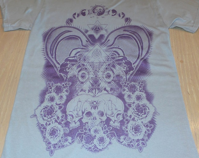 T-Shirt - Alter (Purple on Ice Gray)