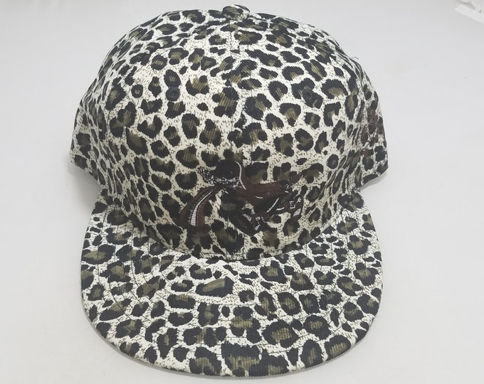 Snapback Flat-Brim Hat - Too Much Too Fast (One-of-a-kind)