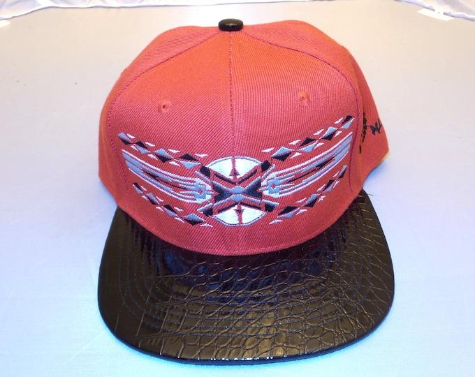 Snapback Flat-Brim Hat - Native (One of a kind)