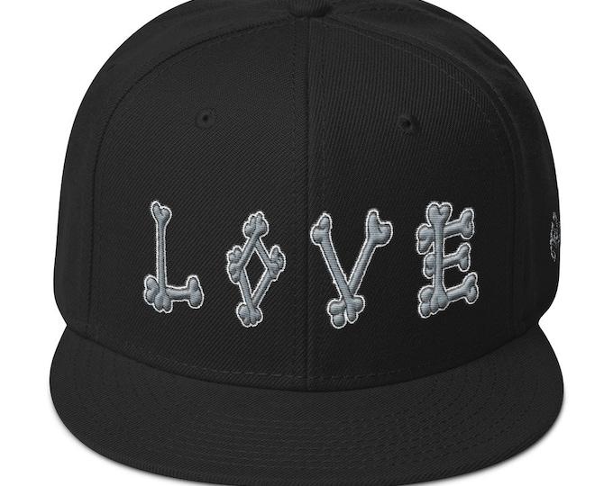 Snapback Flat-Brim Hat - Dead Love