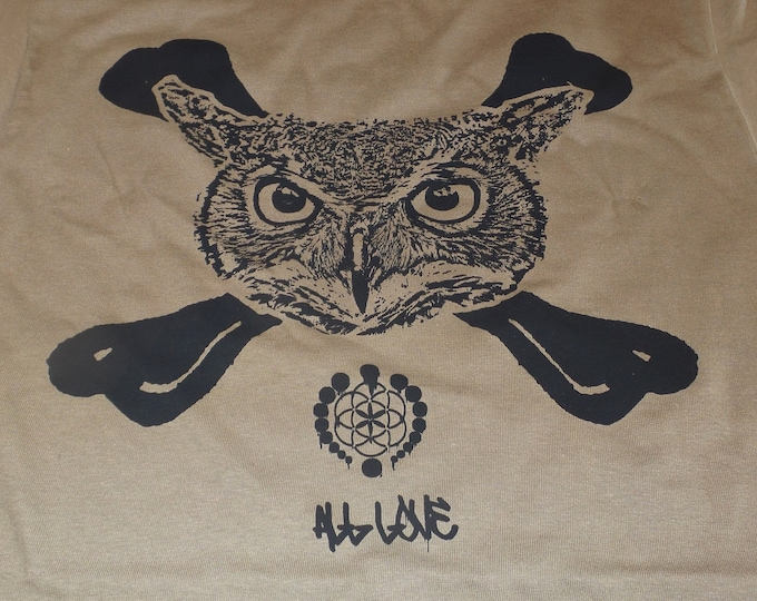 Made-To-Order Extra Heavyweight Pullover Hoodie - Owl Crossbones