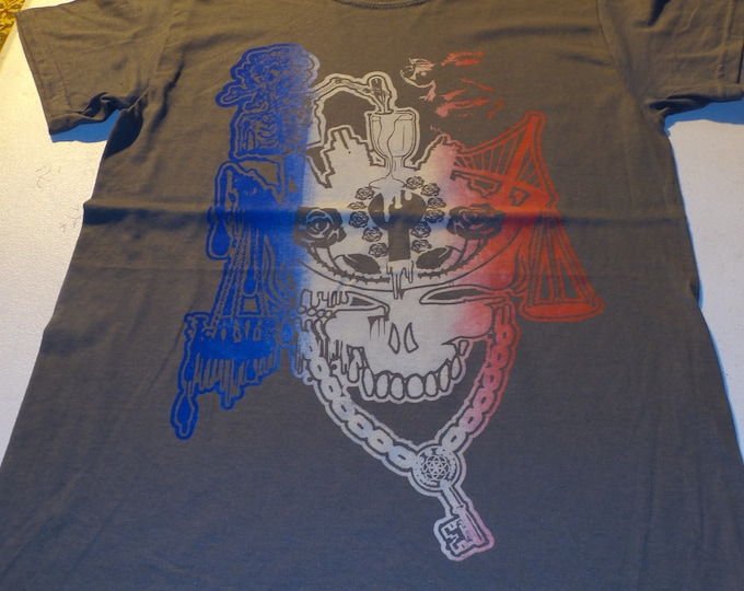 T-Shirt - Cup Runneth Over (Red/White/Blue on Gray)