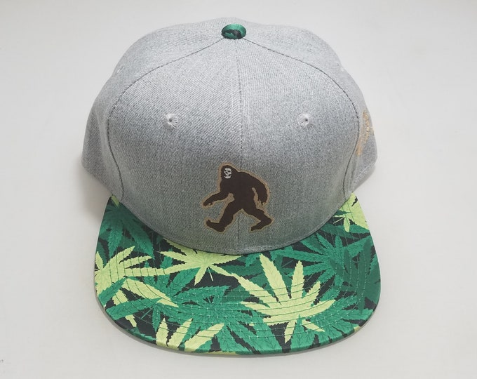 Snapback Flat-Brim Hat - Squatchy (One-of-a-kind)