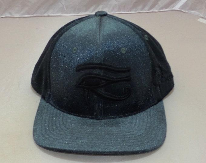 Snapback Bent-Brim Hat - 3D Eye of Horus (One-of-a-kind)