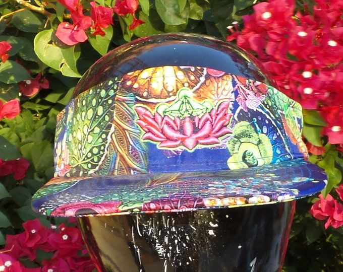 Snapback Flat-Brim Visor - Metatron's Lotus (One-of-a-kind)