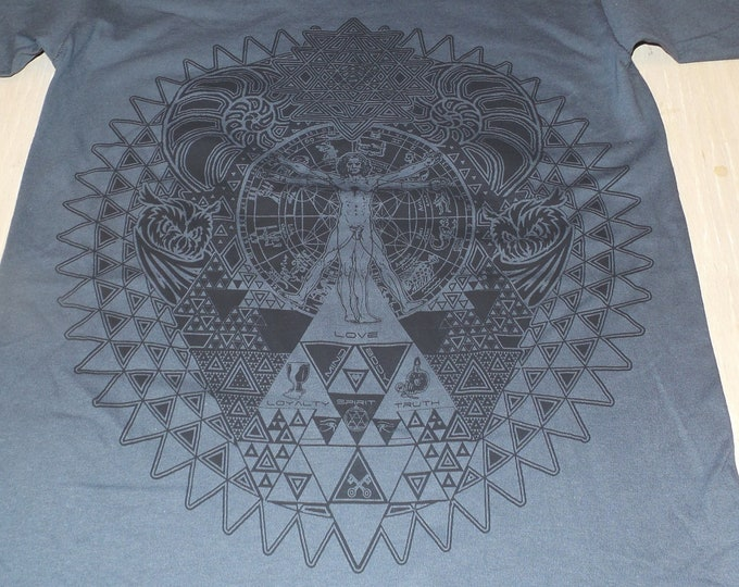 T-Shirt - Fractal of Self (Black on Charcoal)