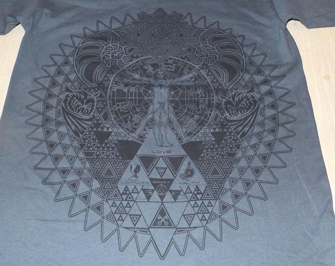 T-Shirt - Fractal of Self (Black on Charcoal)