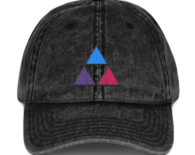 Buckle-Back Bent-Brim Dad Hat - Fire