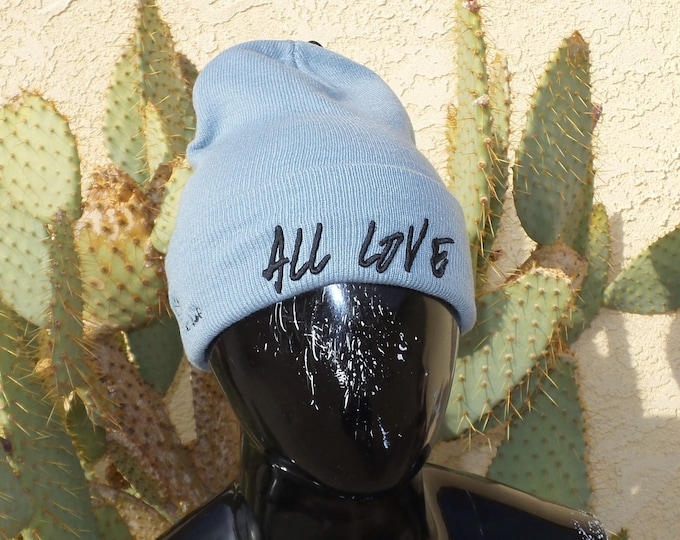 Sock Hat - All Love (Black on Gray)