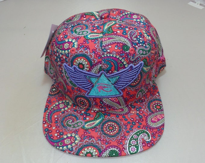 Snapback Flat-Brim Hat - 3D Wings of Horus (One-of-a-kind)