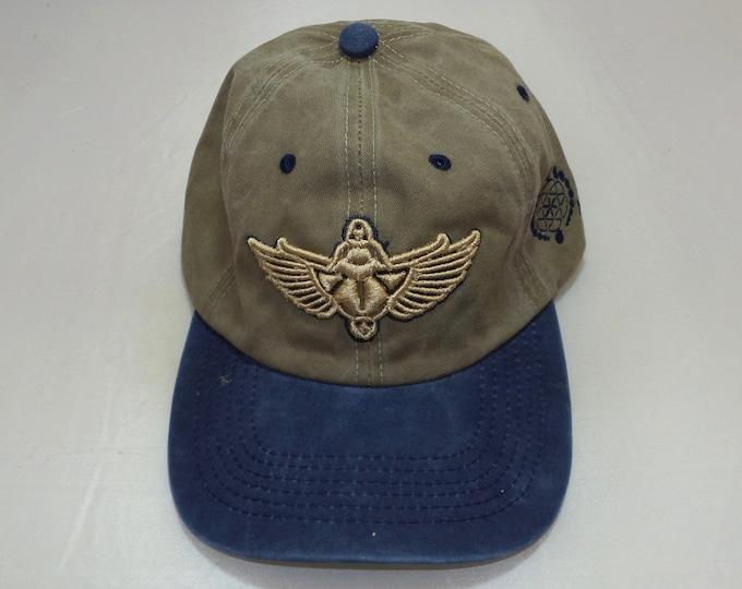 Buckle-back Bent-Brim Hat - Scarab (One-of-a-kind)
