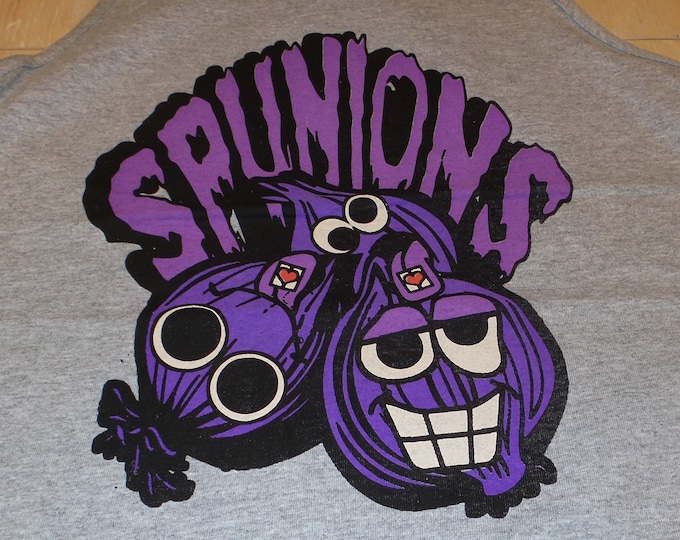 Men's Tank Top - Spunions (Purple/Black on Gray)