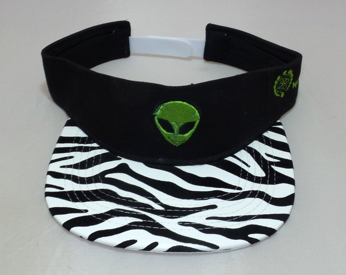 Snapback Flat-Brim Visor - Extraterrestrial (One-of-a-kind)