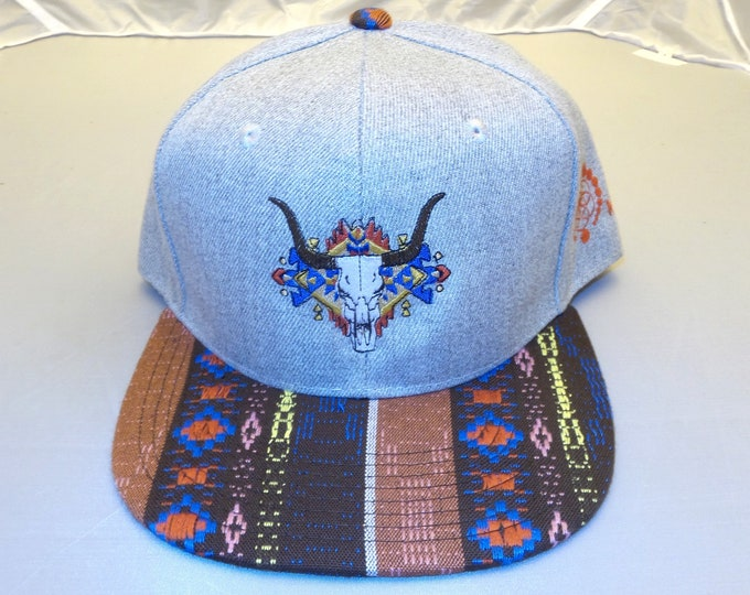 Snapback Flat-Brim Hat - The Buffalo (One-of-a-kind)