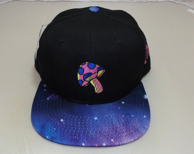 Snapback Flat-Brim Hat - Shroom (One-of-a-kind)