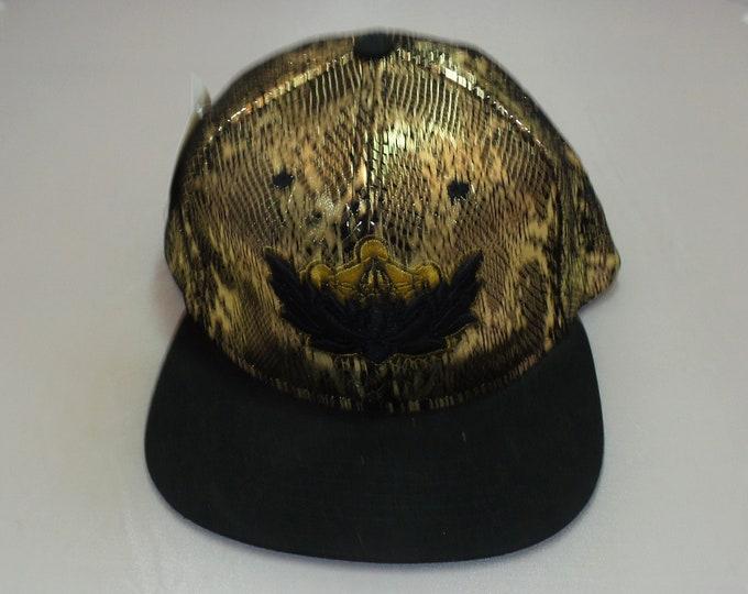 Strap-back Flat-Brim Hat - Metatron's Lotus (One-of-a-kind)