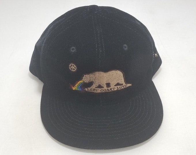 Snapback Flat-Brim Hat - Left Coast Love (One of a kind)