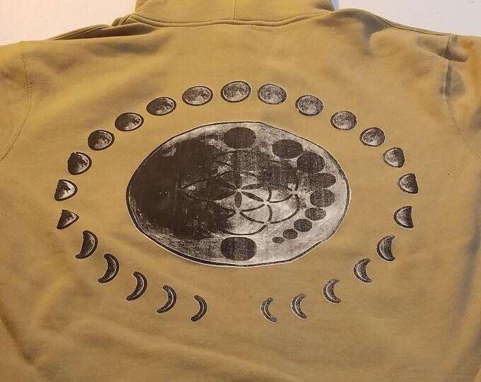 Zip Hoodie - Moon Cycles - Size M (Men)