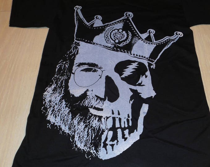 T-Shirt - King Jerry (White on Black)