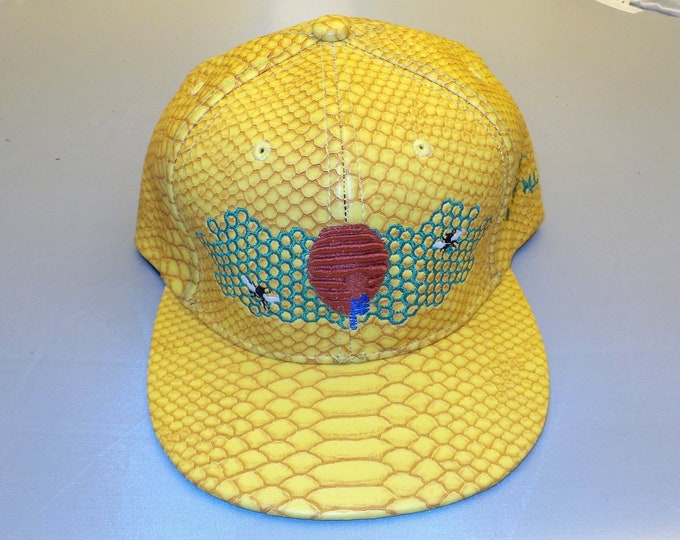 Buckle-back Flat-Brim Hat - Honeycomb Hideout (One-of-a-kind)