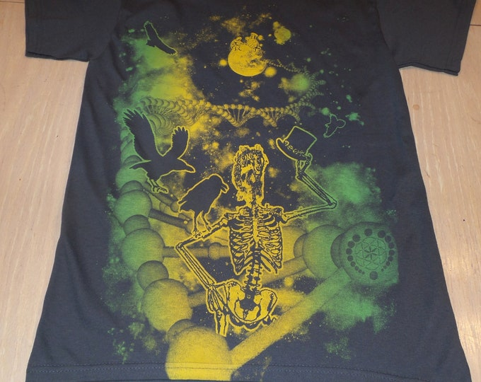 T-Shirt - Fare Thee Well (Yellow/Green on Gray)
