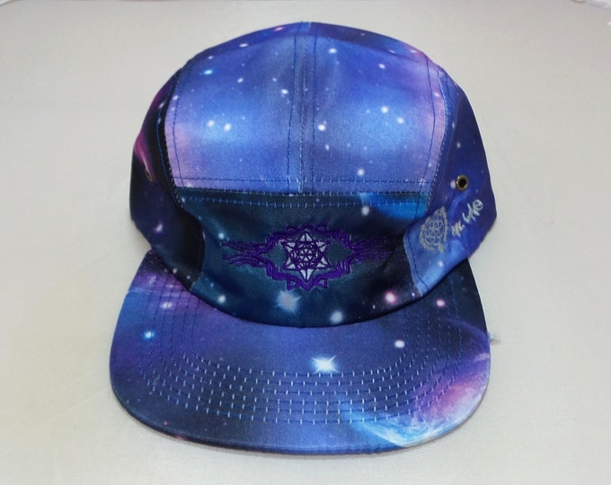Strap-back Flat-Brim Hat - Tron Tetrahedron (One-of-a-kind)
