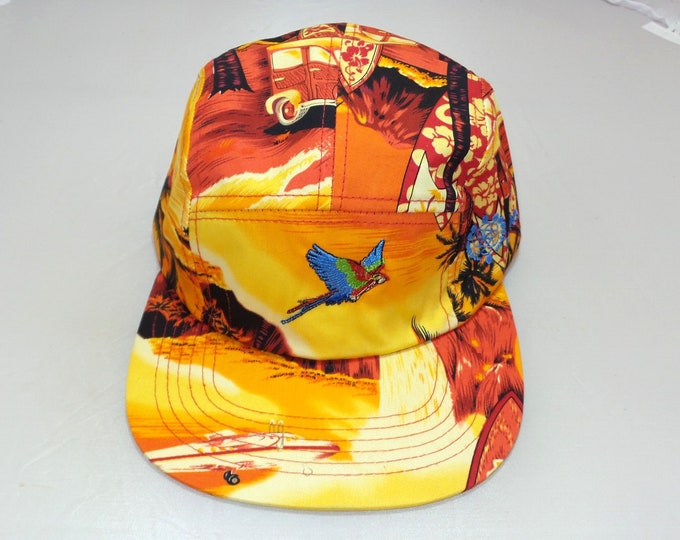 Strap-back Flat-Brim Hat - Parrot (One-of-a-kind)