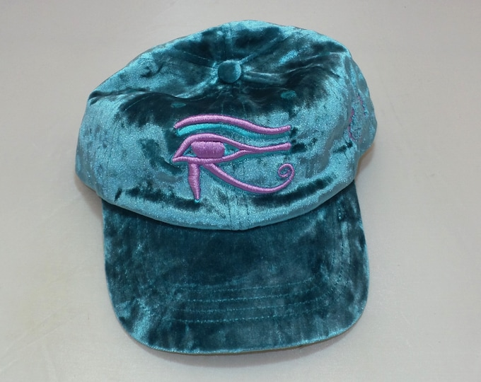 Snapback Bent-Brim Hat - 3D Eye of Horus (One-of-a-kind)