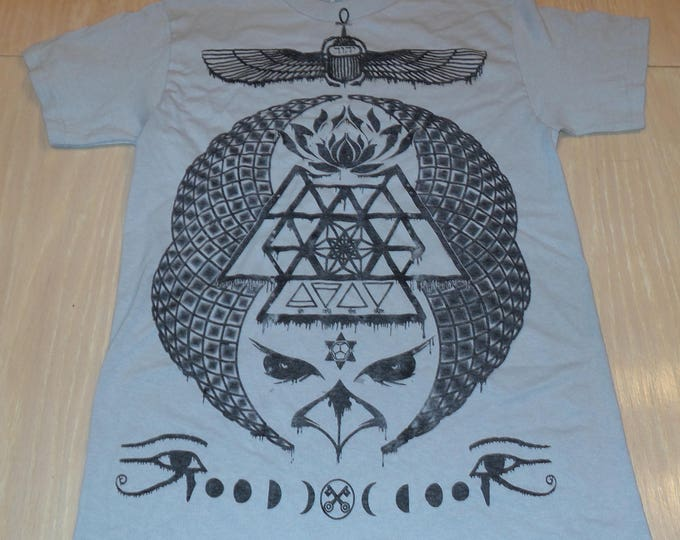 T-Shirt - Ascending Visions (Black on Ice)