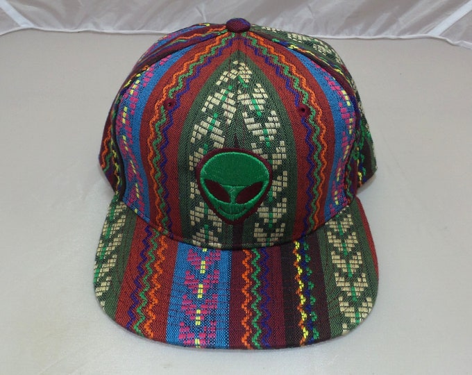 Snapback Flat-Brim Hat - Extraterrestrials (One-of-a-kind)