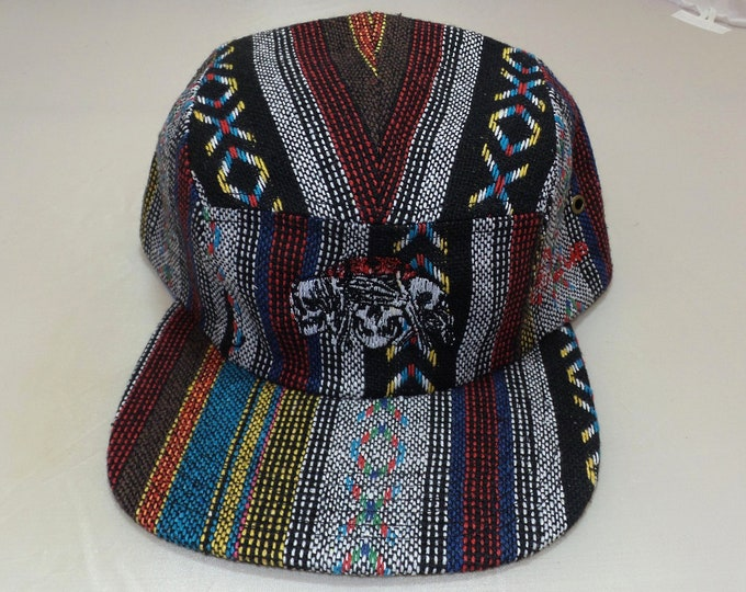 Strap-back Flat-Brim Hat - No Evil (One of a kind)