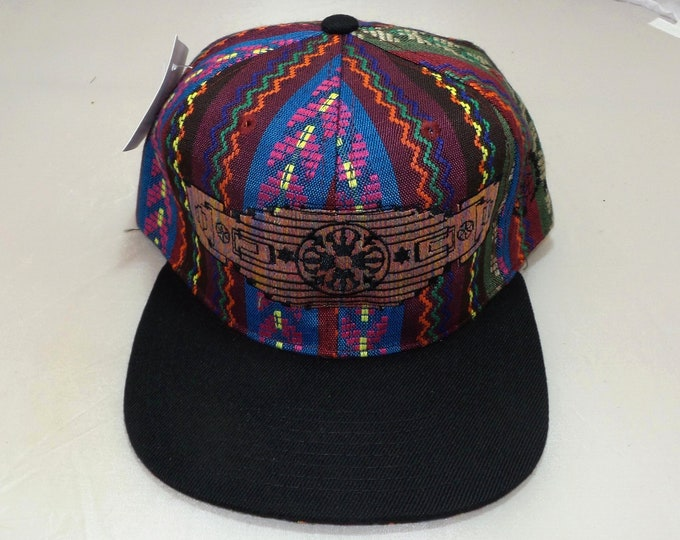 Snapback Flat-Brim Hat - Dorje (One-of-a-kind)
