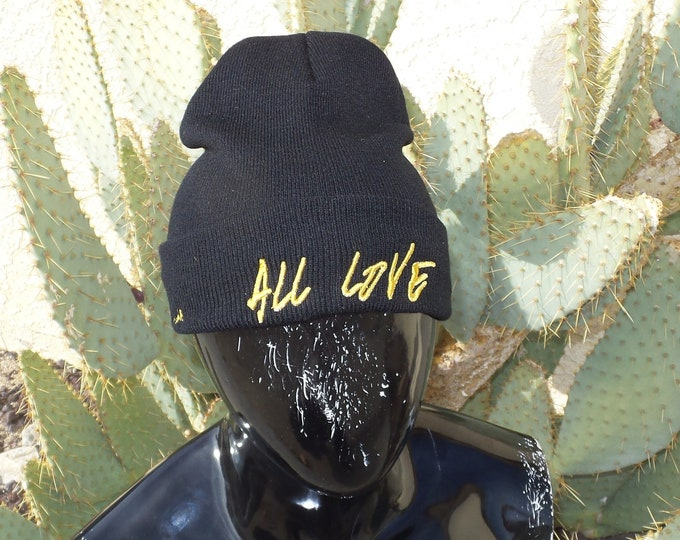 Sock Hat - All Love (Gold on Black)