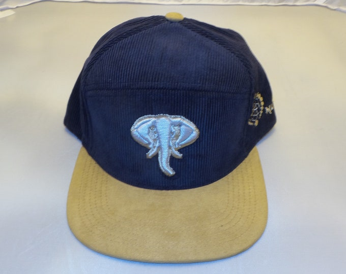 Snapback Flat-Brim Hat - Elephant (One-of-a-kind)