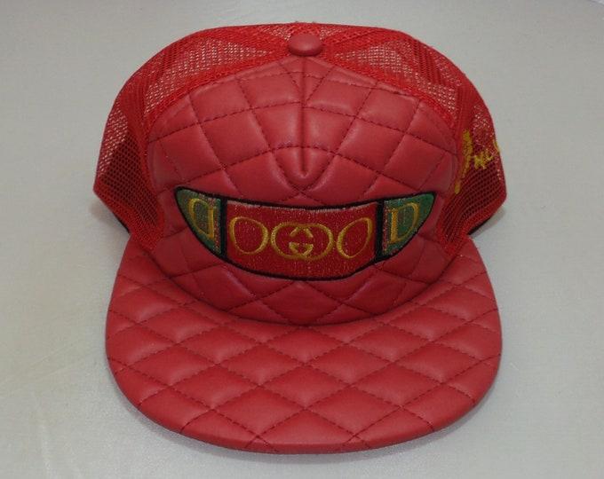 Snapback Flat-Brim Hat - Goochi (One-of-a-kind)