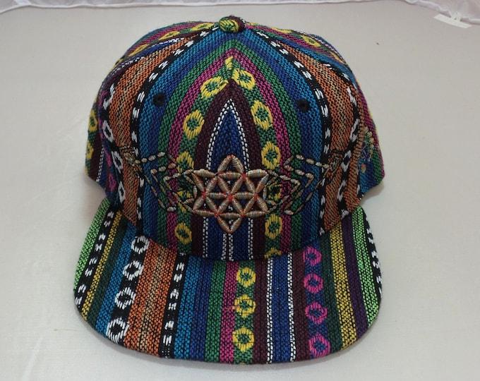 Snapback Flat-Brim Hat - Plant (One-of-a-kind)