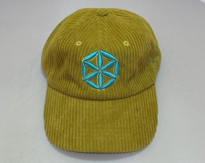Strap-back Bent-Brim Hat - Seed of Life (One-of-a-kind)