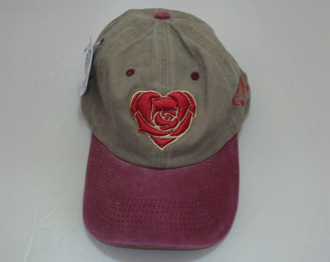 Buckle-back Dad Hat - Heart Rose (One-of-a-kind)