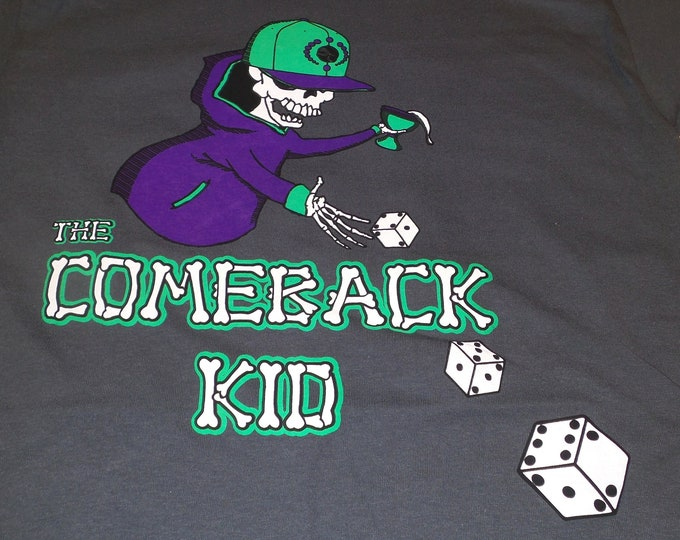 T-Shirt - The Comeback Kid (Multi on Charcoal)