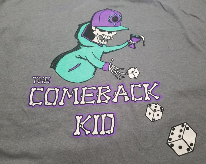 T-Shirt - The Comeback Kid (Multi on Charcoal)